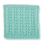 Build-a-Block Series: Knit Stitch Block #1- Lacy Eyelet Vines