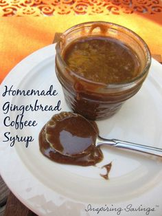 This is my fall time go to addition for my tea or coffee. Stir in a teaspoon or two of this homemade gingerbread coffee syrup and you are set.