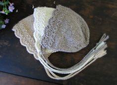Newborn Photography Girl Prop. Knit Newborn Bonnet. Heirloom Knit. Eco Friendly Baby.
