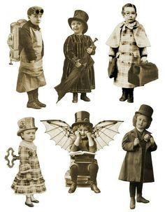 Steampunk Fairy Printable Sepia Paper Doll by AlteredArtifacts Éphémères Vintage, Motif Vintage, Images Vintage, Vintage Ephemera, Vintage Pictures, Vintage Paper, Vintage Prints, Images Victoriennes, Steampunk Fairy