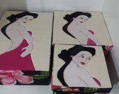 Kit caixas em patchwork embutido
