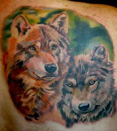 Great tattoo, many tattoos of wolves do not come out looking right