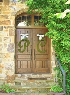 Script Moss Wedding Letters Church Door 24 Inch by SpottedLeopard, $175.00
