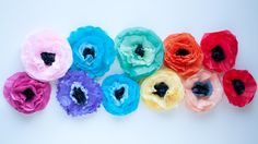 Tissue Paper Poppy Magnets • this heart of mine