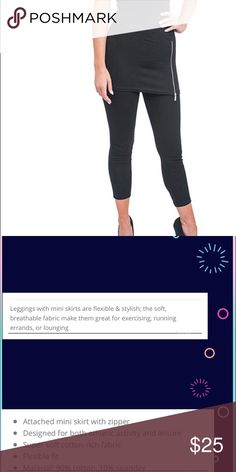 "💕Black Zippered Skirt Leggings💕 New in Package Black Zippered Skirt Leggings!   Size L/XL, Height recommendations... 5'5""-6"" and weight 140-180 pounds however it does stretch. Pants Leggings"