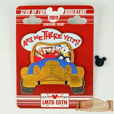 Disney DLR Gear Up For Adventure Are We There Yet? Jumbo Pin LE 200 w/ Donald