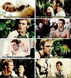 I am just going to take a moment to say how much I love & respect Finnick. Yes, he is vain and proud and good looking, but I think a lot of it is a front. I think he's a very deep person, and he would do anything-ANYTHING-for his Annie.