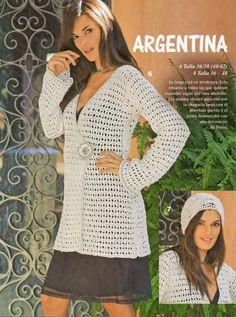 Delicadezas en crochet Gabriela: Abrigos de temporada paso a paso