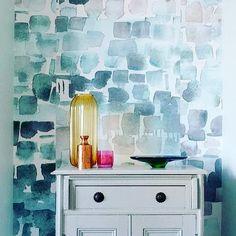 watercolour wallpaper #coveredwallpaper #shopwallpaper #committocolor #paperyourwalls #louisebody #watercolorwallpaper