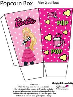 Free printable popcorn box, remember to print 2 for each box