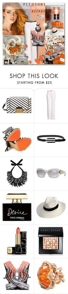 """""""Pleasant Desires..."""" by nannerl27forever ❤ liked on Polyvore featuring Poesia, Roberto Cavalli, GX, Miu Miu, Forest of Chintz, Versace, Dolce&Gabbana, Guerlain, Bobbi Brown Cosmetics and Alexander Wang"""