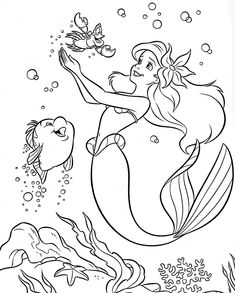 colouring pages coloring pages disney princess little mermaid ariel for kids free printable for kids - Coloring Books For Girls