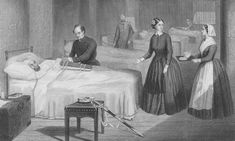 Florence Nightingale in a hospital at Scutari during the Crimean war