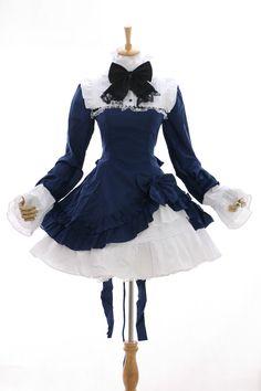 M-3111 M/L/XL/XXL blau blue Classic Lolita Kleid dress Cosplay Kostüm costume | eBay