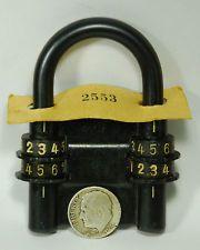 Vintage German Combination Padlock Lock Antique