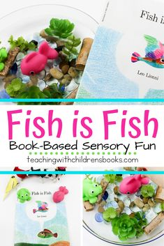 When you create this fun Fish is Fish sensory bin, your students will have an opportunity to reenact the story over and over again. Sensory Activities Toddlers, Gross Motor Activities, Hands On Activities, Infant Activities, Activities For Kids, Activity Ideas, Sensory Diet, Sensory Play, Leo Lionni