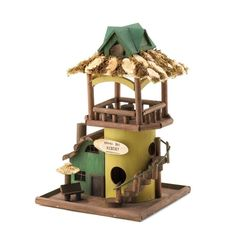 """Hawaii Bay Resort"" Hotel Hut Birdhouse Bird House Outdoor Yard Garden Decor"