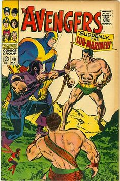 SILVER AGE 1967 AVENGERS #40 MARVEL COMICS HERCULES / HAWKEYE / GIANT-MAN / NAMOR The SUB-MARINER