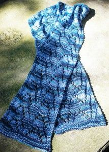 Free knitting pattern for Lacy Scarf and more colorful knitting patterns