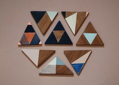 hand painted wooden magnets. studio fludd. need to make these.