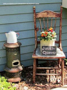Adding interesting junk to your flower gardens!
