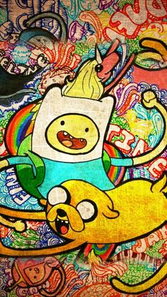 Jake and Finn Adventure Time