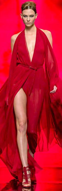 Donna Karan - red dress - Fall 2014