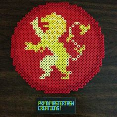 Lannister - Game of Trones sigil perler beads by pkmnmastertash