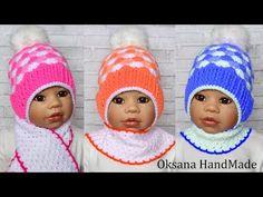 Детская шапка крючком. Hat crochet - YouTube Crochet Baby, Winter Hats, Beanie, Children, Handmade, Youtube, Fashion, Caps Hats, Chrochet