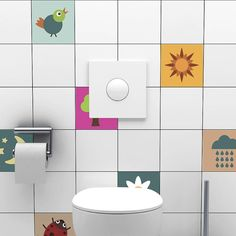 Portuguese Tile Stickers for Sale at Bouf Bathroom Tile Stickers, Mosaic Tile Stickers, Tile Decals, Mosaic Tiles, Wall Tiles, Tuile, Shower Cubicles, Cheap Wall Stickers, Color Tile