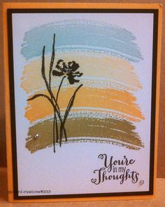 Thinking of you card, Stampin Up Work of Art
