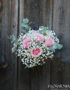 bukiet ślubny róża gipsówka #weddingbouquet  #ślub #gypsophila #rose