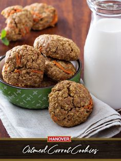 Love carrot cake and oatmeal cookies? Now you can enjoy the best of both worlds with this fun and easy #recipe. Tender, moist and oh-so-delicious, this awesome treat is a healthier alternative to other desserts (though it certainly won't taste like it!). It's the perfect combination of natural sweetness, hearty oats and a hint of savory cinnamon that'll have everyone reaching in to grab another. Why not whip up a batch today? #hanoverhappy #hanoverhealthy
