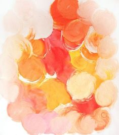 Abstract Art // Pale Pinks, Orange and Yellow