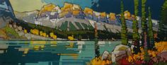 ALPENGLOW OVER EMERALD LAKE by Cameron Bird @ Canada House Gallery