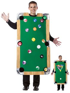 Fun Halloween Costumes Pool Table Costume - Felt board w/ balls so they move around!
