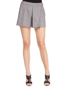 Pleated Shorts Detachable Collar, Pleated Shorts, Diane Von Furstenberg, Alexander Wang, Neiman Marcus, Short Dresses, Blazer, Legs, Style