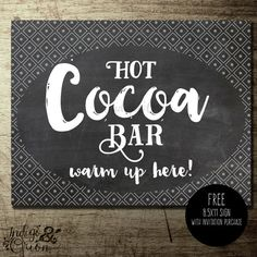 Baby it's cold outside winter baby shower free hot cocoa bar sign with invitation purchase by IndigoAndOrion Snowflake Baby Shower, Hot Cocoa Bar, Cold Shower, Baby Shower Winter, Snowflake Designs, Its Cold Outside, Bar Signs, Baby Shower Cakes, Baby Shower Invitations