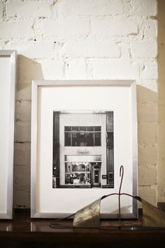 Love the way this b photo is framed and leaning against the wall