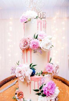 42 Yummy And Trendy Drip Wedding Cakes ❤ drip wedding cakes tender drip cake sharneandsugar #weddingforward #wedding #bride