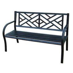 Jordan Manufacturing Maze Metal Garden Bench