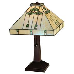 Specifications: Total Width: Total Height: Total Square: Total Weight: Bulb Type: Medium Bulb Wattage: 60 Bulb Quantity: 1 Availability: This Item Is Custom Made. Please Call For Lead Time. Craftsman Style Table, Craftsman Lamps, Stained Glass Table Lamps, Tiffany Table Lamps, Home Decor Shops, Bulb, Glass Lights, Lead Time, Type