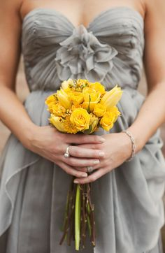 yellow and gray wedding #wedding #yellow #gray