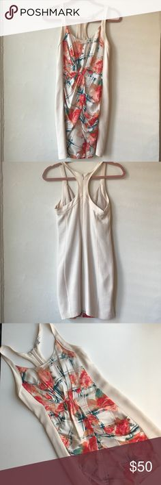 """Rebecca Minkoff Size 2 dress This is a Rebecca Minkoff Size 2 dress - never worn! In excellent condition! The dress color is creme and has a very soft fabric. I am 5'4"""" 118 lbs with b cup and this dress fit well Rebecca Minkoff Dresses Mini"""
