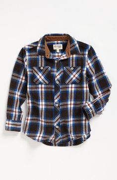 Tucker   Tate 'Lawson' Long Sleeve Flannel Shirt (Baby Boys) available at #Nordstrom