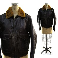 Hey, I found this really awesome Etsy listing at https://www.etsy.com/listing/268615335/antique-horsehide-bomber-jacket-with