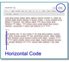 How to add a horizontal line in a WP page