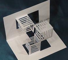 3d geometric kirigami free template | Mashustic.com
