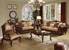 Ersa Traditional Wood Trim Chenille Fabric Gold/Bronze Sofa by ...