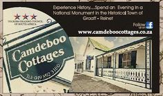 Camdeboo Cottages - B or Self-Catering Accommodation in Graaff-Reinet, gem of the karoo - follow us on Facebook - www.facebook.com/camdeboo    #travel #Karoo #EasternCape #SouthAfrica #GraaffReinet Married Life, Cottages, South Africa, Catering, Gem, Facebook, Places, Travel, Cabins